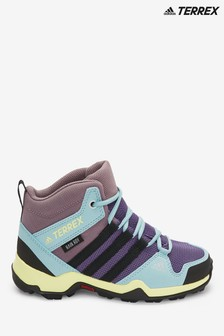 adidas Terrex Trail Purple/Blue AX2R Junior & Youth Mid Boots