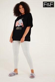 F&F Black Dumbo Pyjama Set