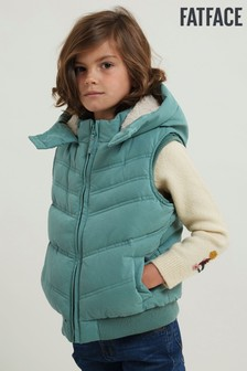 FatFace Green Hooded Gilet
