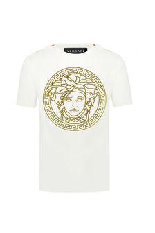 Versace Baby Unisex White Cotton Unisex T-Shirt