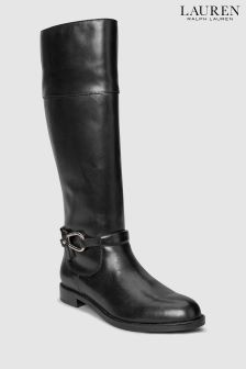 Lauren Ralph Lauren® Black Harlee Trim Long Boot