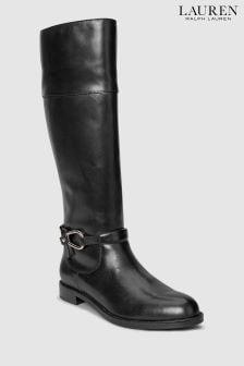Lauren Ralph Lauren® Black Harlee Trim Long Boot