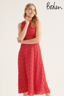 Boden Red Clarissa Midi Dress