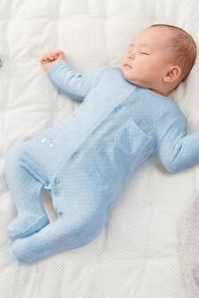 Bear Velour Sleepsuit (0mths-2yrs)