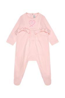 Givenchy Kids Girls Pink Babygrow