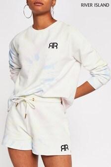River Island Blue Tie Dye Runner Shorts