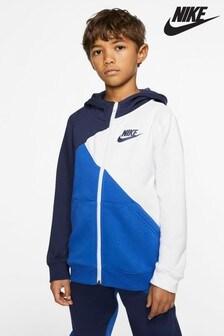 Nike Navy/White Amplify Full Zip Hoody
