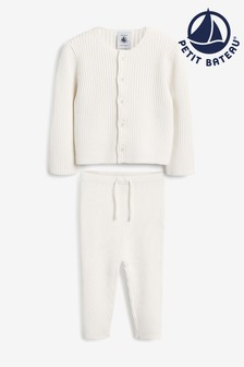 Petit Bateau Cream Knitted Two Piece Set