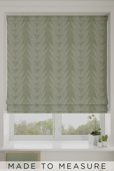 Linear Leaf Jacquard Made To Measure Roman Blind