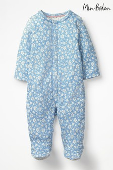 Boden Blue Pretty Printed Sleepsuit