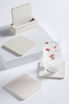 Tile Print Coaster Holder