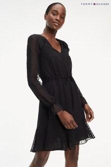 Tommy Hilfiger Black Bella Silk Dress