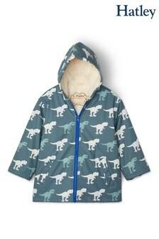 Hatley T-Rex Sherpa Lined Colour Changing Splash Jacket