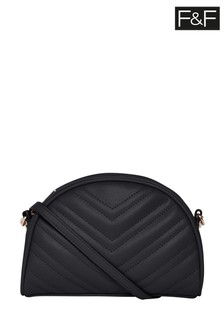 F&F Black Dome Cross Body Bag