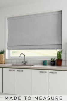 Made To Measure Natural Heavyweight Chenille Roman Blind