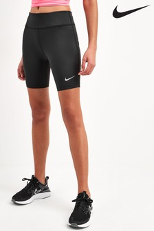 "Nike Black Fast 7"" Run Shorts"