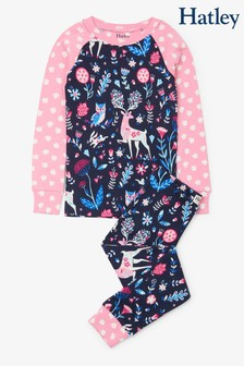 Hatley Blue Nordic Forest Organic Cotton Raglan Pyjama Set