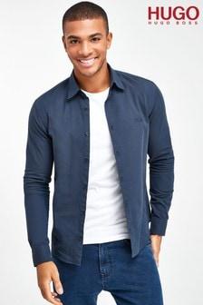 HUGO Ermo Blue Shirt