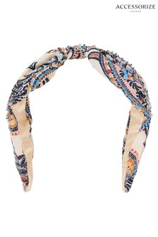 Angels by Accessorize Blue Paisley Embellished Wide Aliceband