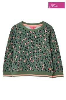 Joules Green Viola Faux Fur Back Sweatshirt