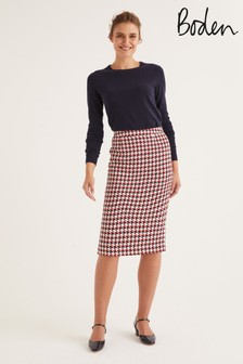 Boden Navy Clara Pencil Skirt