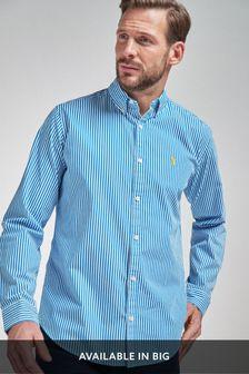 Рубашка классического кроя в полоску с длинными рукавами