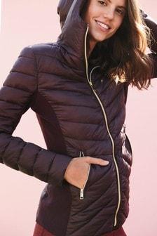 Короткая складывающаяся куртка с утеплителем