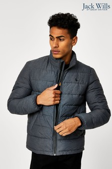 Jack Wills Grey Kershaw Lightweight Padded Jacket