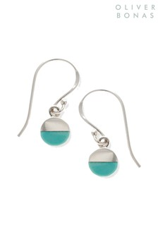 Oliver Bonas Sterling Silver Lyca Turquoise Earrings