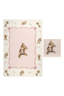 Baby Girls Pink Cotton Teddy Blanket
