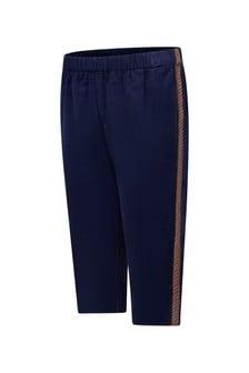 GUCCI Kids Baby Girls Navy Corduroy Trousers