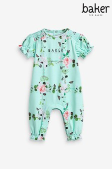 Baker by Ted Baker Green Floral Romper