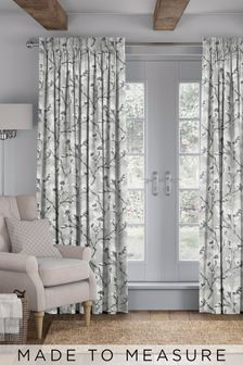 Hamlin Grey Lined Made To Measure Curtains