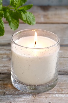Spearmint and White Tea Bubble Glass Candle