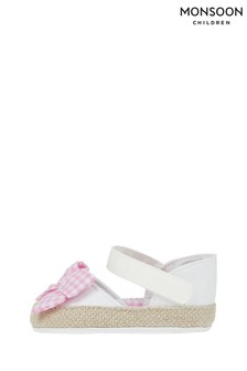 Monsoon Baby Gingham Bow Espadrilles