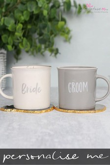Personalised Bride and Groom Mug Set by Signature PG