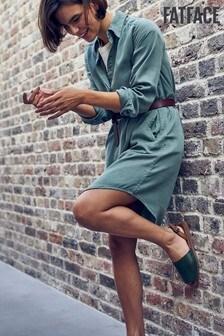 FatFace Green Harper Dress