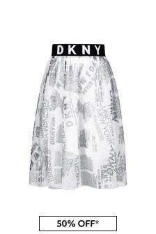 DKNY Girls White Skirt