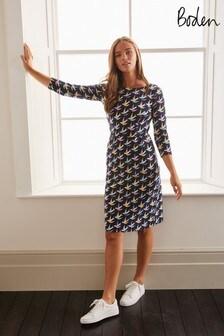 Boden Blue Penny Jersey Dress