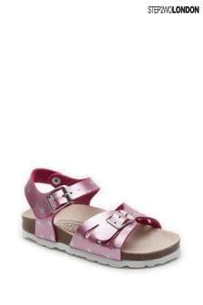 Step2wo Pink Star Gaze Buckle Sandals