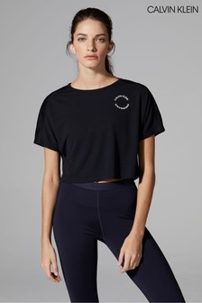 Calvin Klein Performance Black Cropped T-Shirt