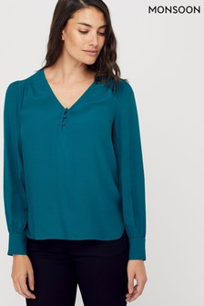 Monsoon Ladies Teal Tiffany Blouse