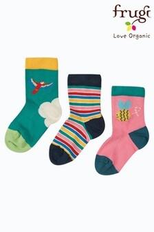 Frugi Organic Cotton Bee Happy Socks 3 Pack