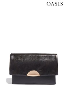 Oasis Black Ellen Cross Body Clutch Bag