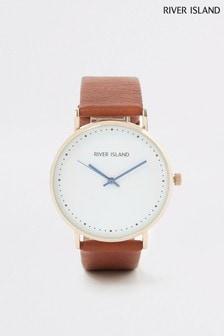 River Island Tan Watch Bracelet Gift Set