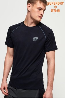 Superdry Active Loose Camo Jacquard T-Shirt