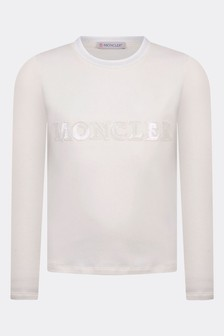 Moncler Enfant Girls Cotton Long Sleeve T-Shirt