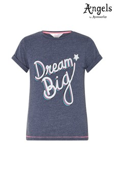 Angels by Accessorize Blue Dream Big T-Shirt
