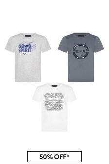 Emporio Armani Boys Grey T-Shirt Set