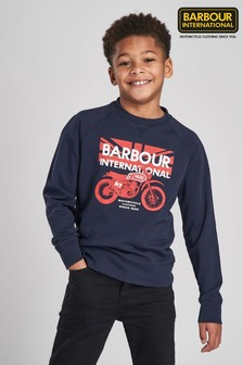 Barbour® International Navy Spark Crew Sweater